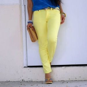 New bebe yellow jeans❤️