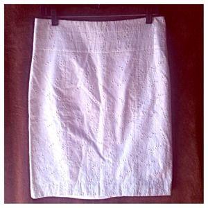 Eyelet H&M Pencil Skirt