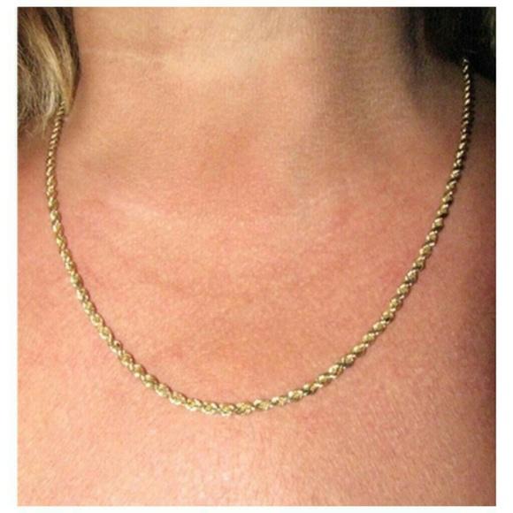 Gold Jewelry Diamond Cut Rope Chain 10kt Stamped Poshmark