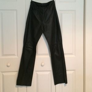 100% REAL LEATHER 4 pocket Pants LIKE NEW‼️‼️