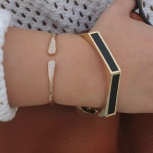 Etienne Aigner Jewelry - Etienne Aigner Black & Gold Bangle!