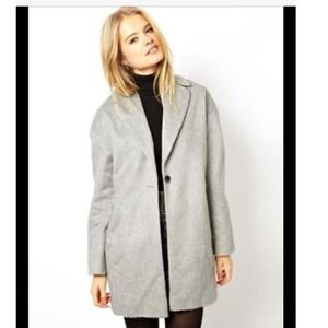 Light Grey Cocoon Coat from ASOS