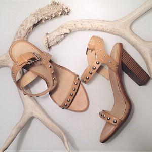 Tan Studded Heels inspired by Isabel Marant