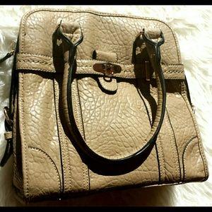 Beige and gold hardware handbag