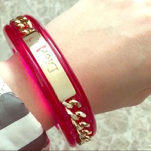Authentic Christian Dior bangle bracelet in Pink