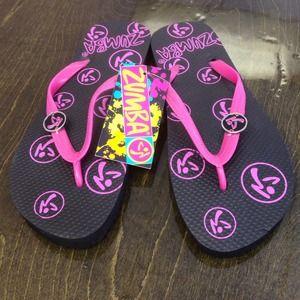New Retired Zumba flip flops