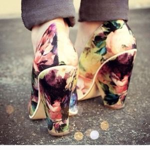 ASOS Shoes - ASOS Polly Printed Heels (Floral Heels)