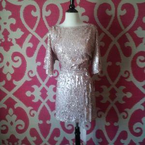6b782f74f4 Jessica Simpson Dresses - Jessica Simpson pale pink sequin dress
