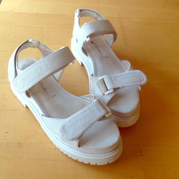 Jeffrey Campbell White Velcro Sandals