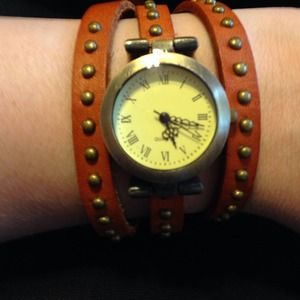 Wrap brown watch