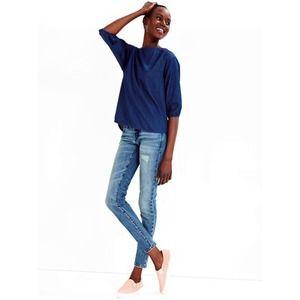 GAP 1969 Destructed Always Skinny Skimmer Jeans