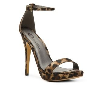 Michael Antonio Shoes - Michael Antonio Leopard Ankle Strap Heels
