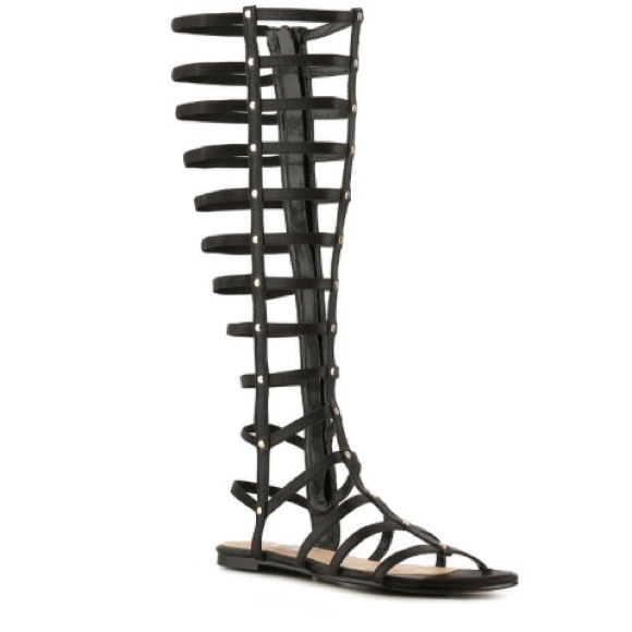 9902dca38cc7 DSW Shoes - Black Tall Gladiator Sandals