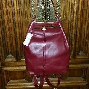 Alberta Di canio Handbags - *Maroon back pack
