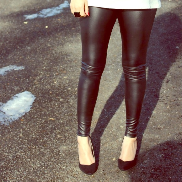 33117dff6e7e5 Faux Leather Leggings. M_547d8bdbf024f2460f340326. Other Pants you may  like. See You Monday zipper leggings