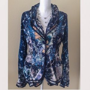 ALBERTO MAKALI Jackets & Blazers - 🆕ALBERTO MAKALI Fancy Tiered Peplum Button up