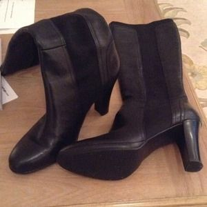 "Tahari ""Jacob"" Boots in Black Leather"