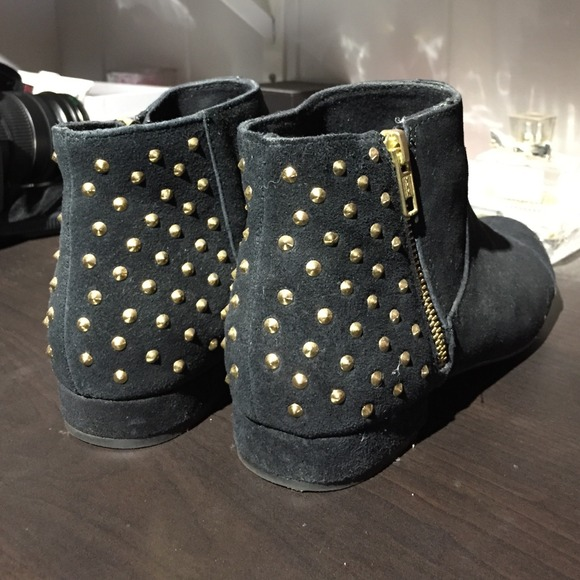 Gold Studded Suede Boots | Poshmark