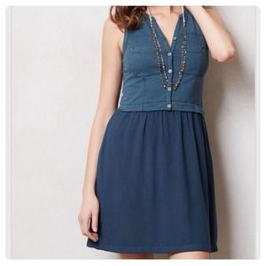 Anthropologie Highway Day Dress (blue colorway)