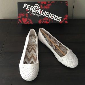 🆕 Fergalicious white flats