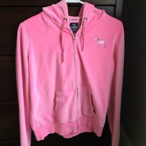 VS Pink Velvet Hoodie Size M