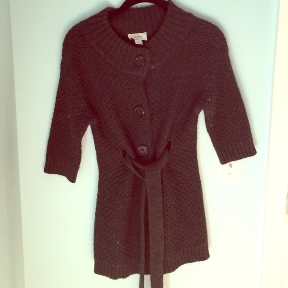 Ann Taylor - Ann Taylor Loft belted cardigan sweater from ...