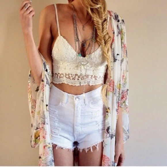 29% off Forever 21 Denim - High waist white ripped shorts from ...