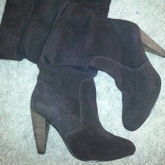 Chocolate brown suede Steve Madden boots