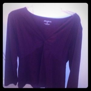 Eddie Bauer Tops - Long sleeve blouse Purple with design