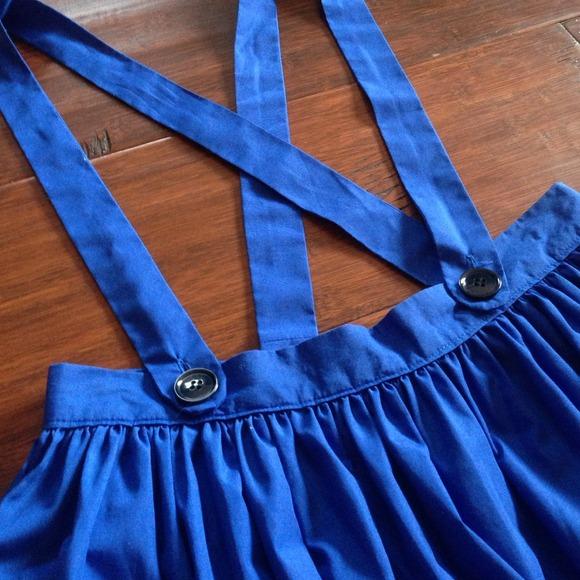 vintage sale vintage royal blue suspender skirt from