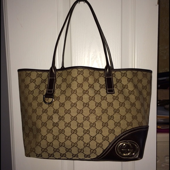 e947c29c6 Authentic Pre-Owned Gucci Britt Medium Tote. Listing Price: $385.00