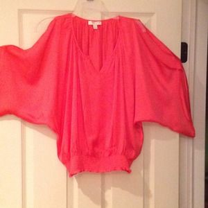 Kenar Tops - 🎉Host Pick🎉 Coral Batwing Split Sleeve Blouse