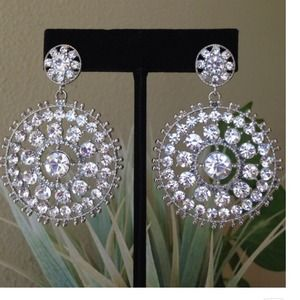 Round Crystalized Earrings