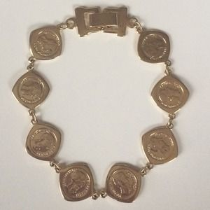Mexican Coin Bracelet