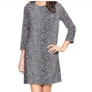 Gap leopard shift dress Size 2