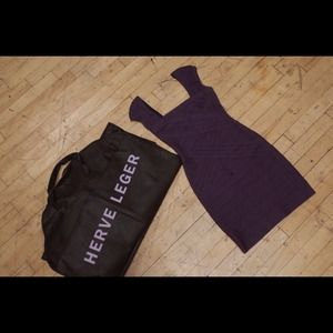 100% Authentic Herve Leger bandage dress in Purple