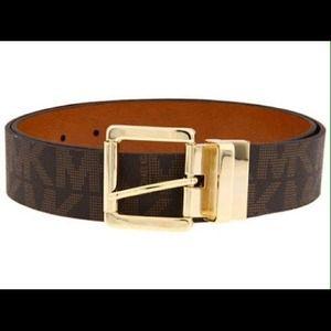 Michael Kors Brown Leather Belt