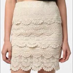 UO Tiered Lace Skirt