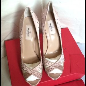 Valentino Shoes - Valentino crystallized pumps