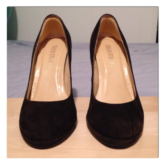 fc0dbbadf7f Colin Stuart Shoes - VS chocolate brown suede heels - 7.5