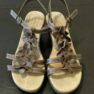 Predictions Shoes - Chocolate Brown Wedge Sandals