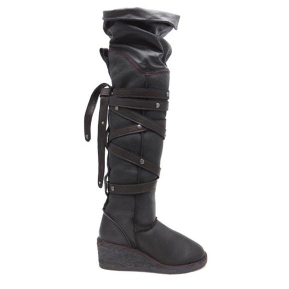 8c7f3ffc03e8 Koolaburra Boots - Koolaburra Victoria over the knee wedge boots