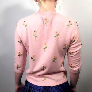 Express Sweaters - Express Pink Beaded Cardigan