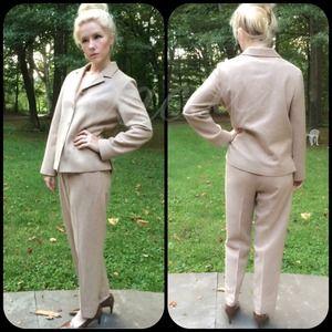 Pendleton Camel Wool Pant Suit