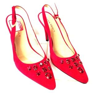 Ellen Tracy Shoes - FINAL SALE PRICE! 😎 New Red Suede Pumps