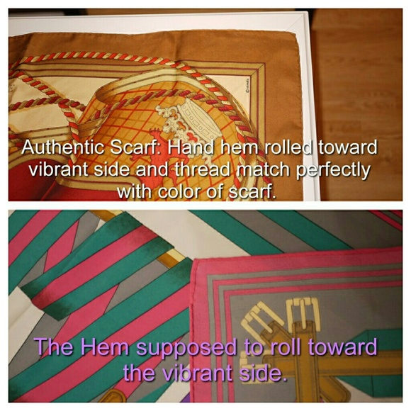 Hermes Vintage Hermes Scarf Authentication From Two S