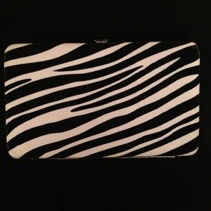 NWOT - Zebra Striped Clutch Wallet