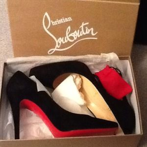 Christian Louboutin Size 40.5 Black Suede