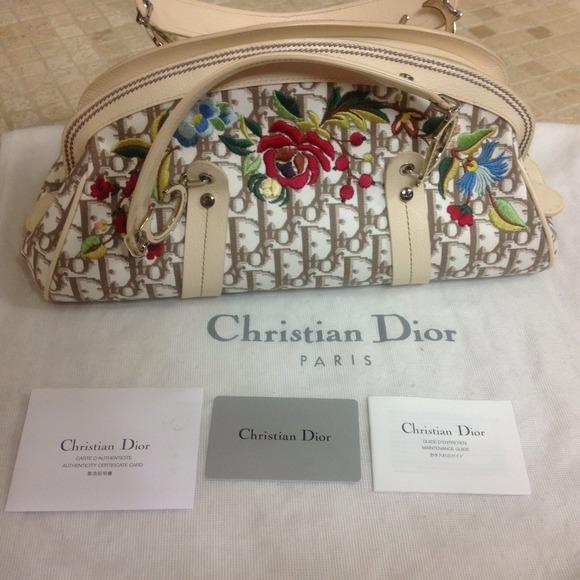 59ed3b1799 Christian Dior Bags   Diorissimo Embroidered Flowers Bag   Poshmark