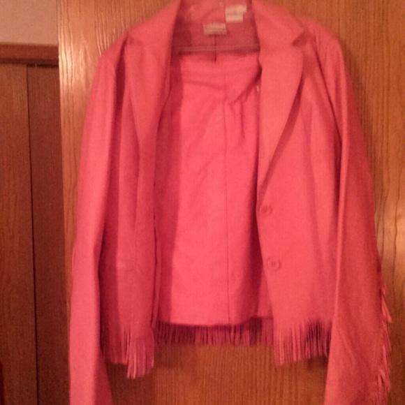 31 newport news dresses skirts pink leather skirt